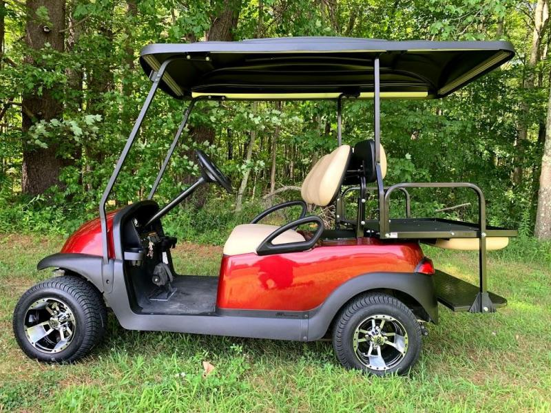 Club Car Precedent Candy Apple Red Metallic 4 pass CUSTOM 2017 Battery