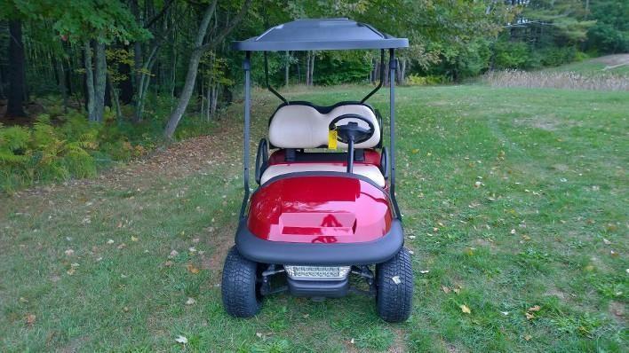 Candy Apple Red Custom Club Car Precedent 4 pass elect