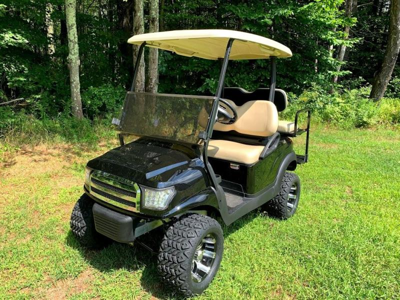 BLACK Custom Precedent Alpha COOL Golf Cart-ELECTRIC