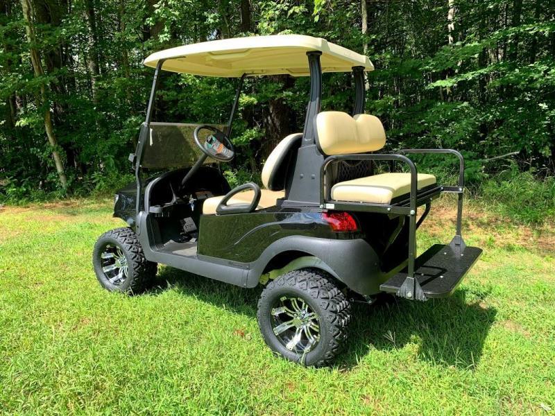 BLACK Custom Precedent Alpha COOL Golf Cart-ELECTRIC
