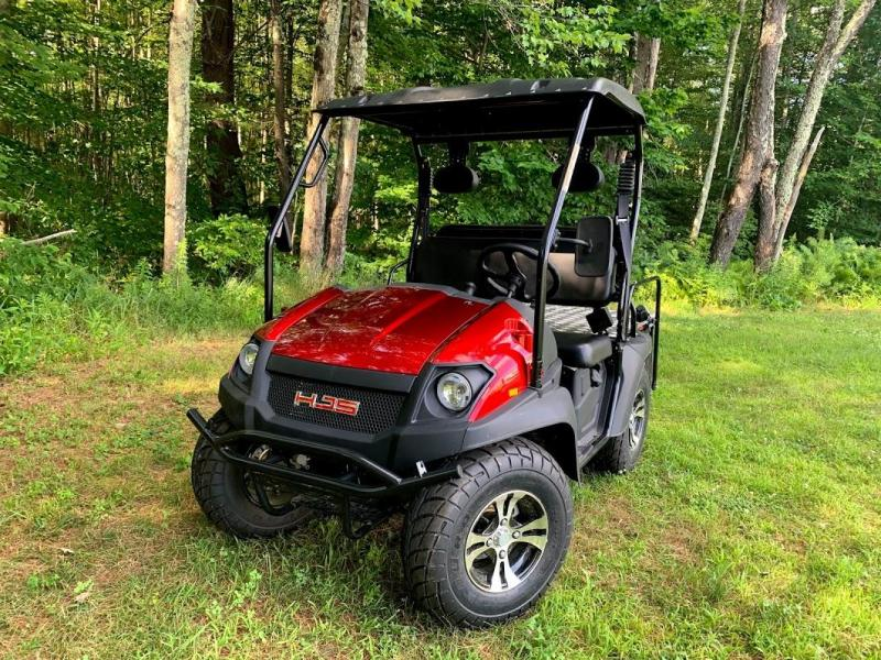 '18 HJS Big Horn 200GVX UTV 4 pass GAS Golf Cart w/flatbed BURGUNDY