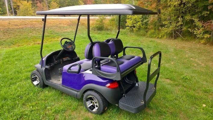 Metallic Purple LoPro Club Car Precedent Custom 4 pass electric golf cart