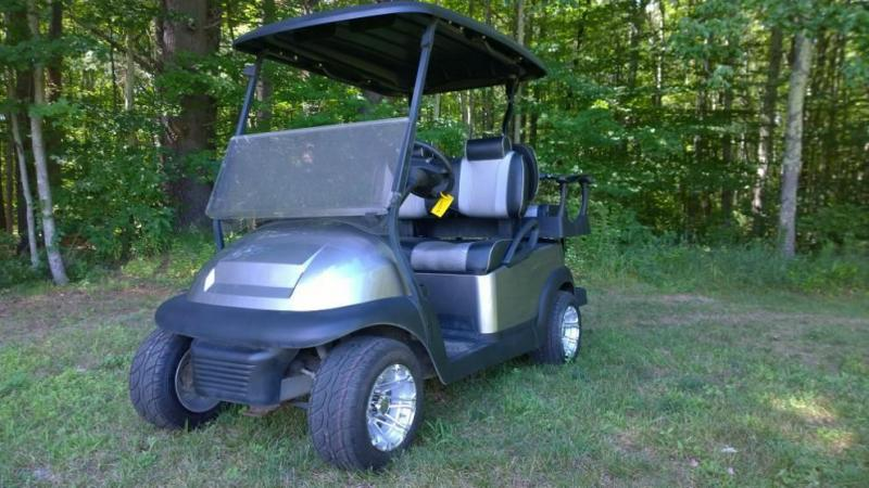Club Car Precedent Custom Metallic Platinum High End 4 pass Electric