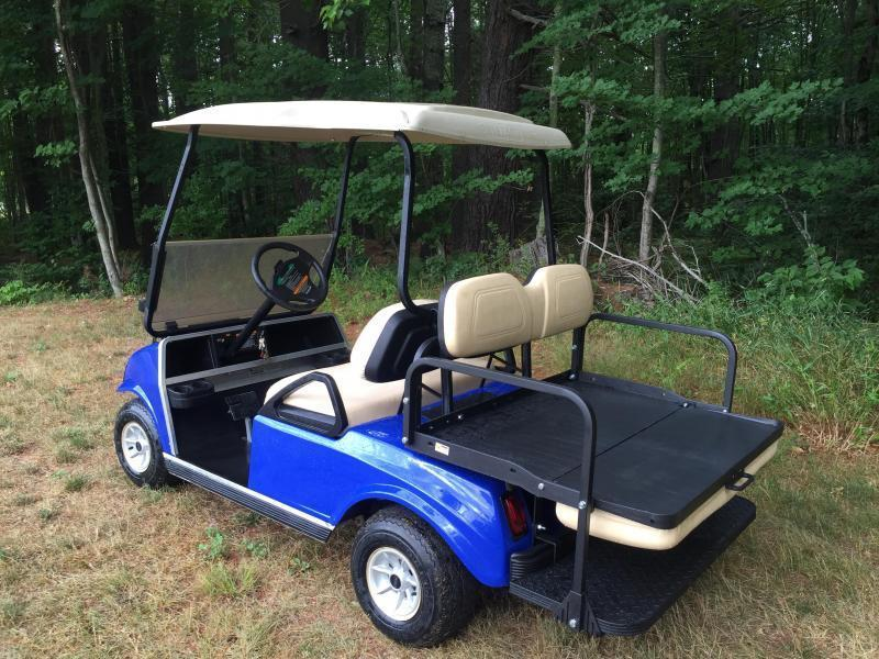 GAS POWERED Club Car Custom Spartan 4 passenger golf car Metallic Blue