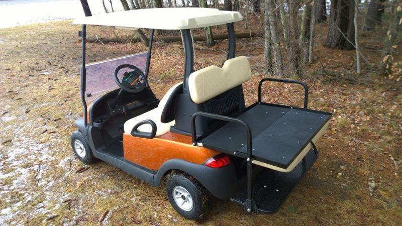 Atomic Orange Metallic Club Car 4 Pass Golf Cart w/New Batteries-warranty