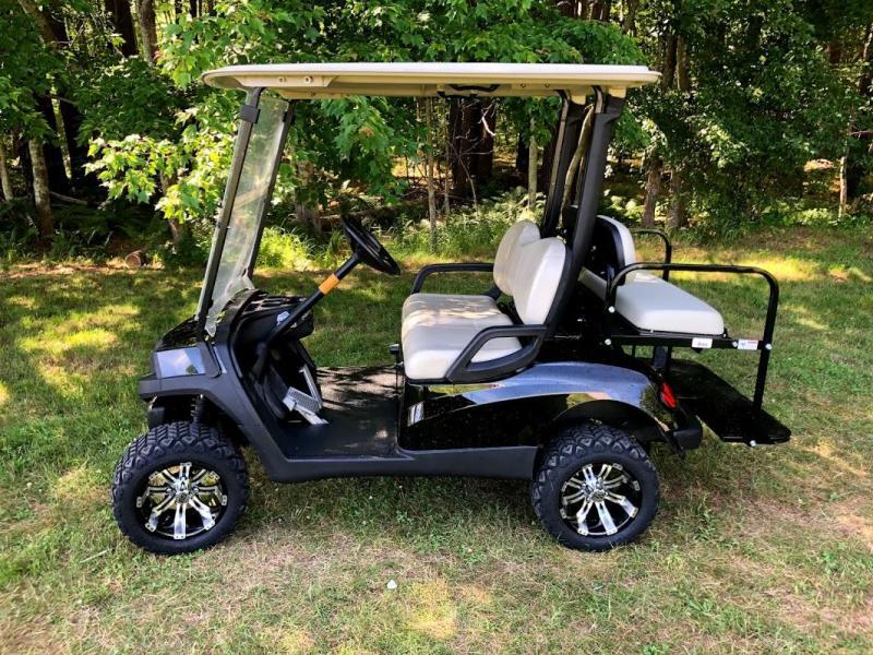 GAS Yamaha Drive 4 pass LIFTED SEMI-CUSTOM golf car BLACK HAVOC BODY
