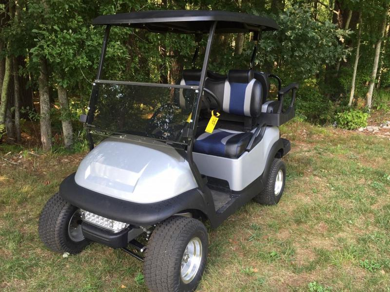 Tsunami Metallic Silver Custom Club Car Precedent 4 pass Golf Cart