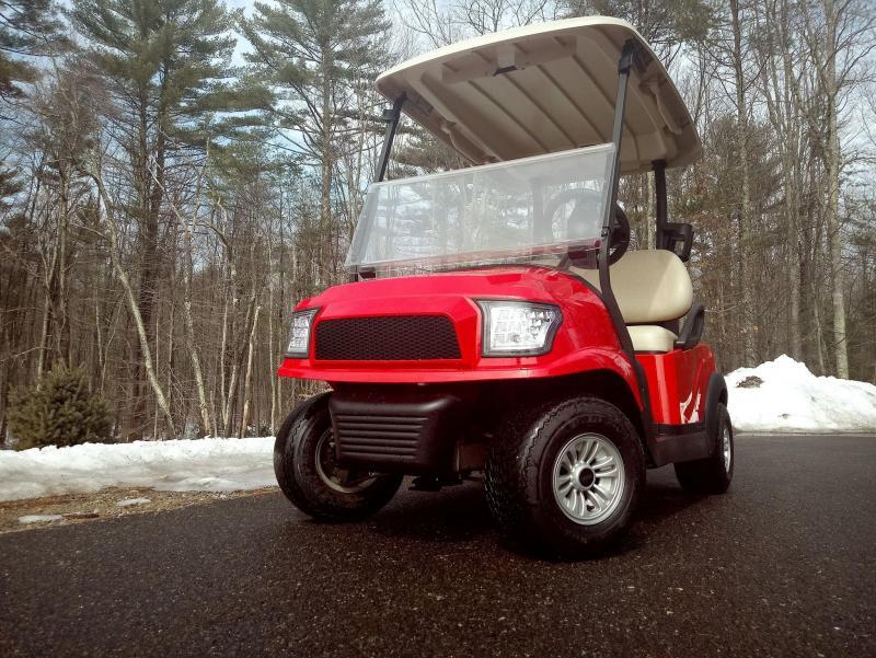 Hot Rod Red Custom Precedent Alpha COOL Golf Cart-ELECTRIC