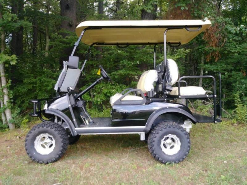 Save $2000!25 MPH Evolution Electric LIFTED BLACK 4 p Golf Car ... on
