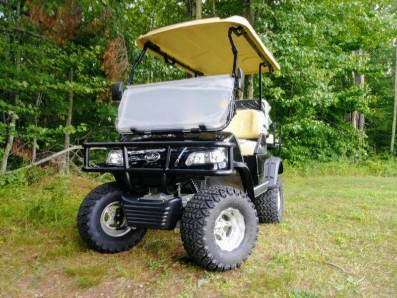 Save $2000!25 MPH Evolution Electric LIFTED BLACK 4 pass Golf Car