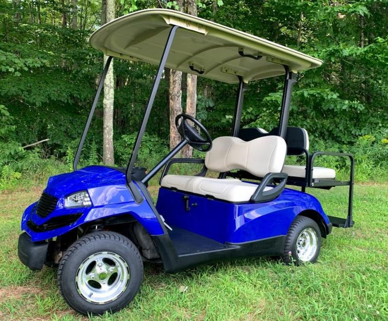 Yamaha Drive GAS 4 pass SEMI-CUSTOM golf car BLUE HAVOC body-NICE!!