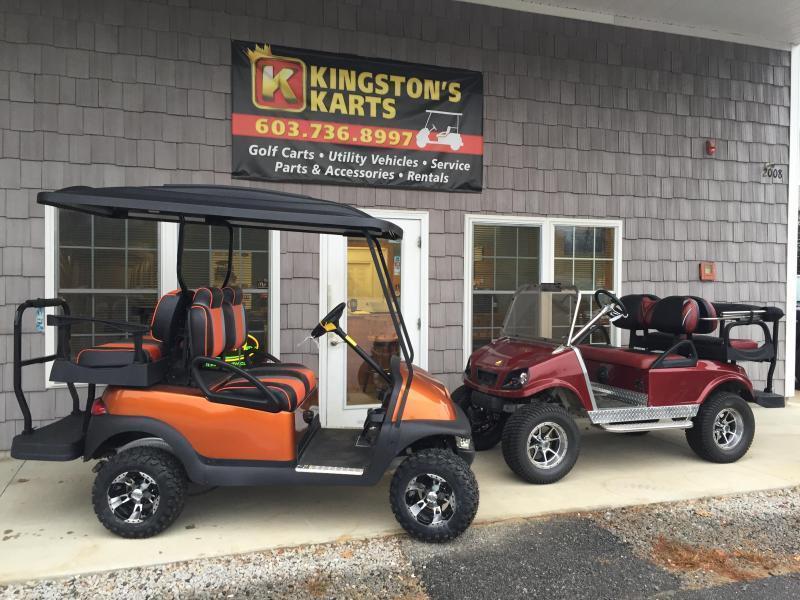 GAS POWERED Club Car Spartan-Metallic Burgundy 4 pass golf w/LIFT KIT