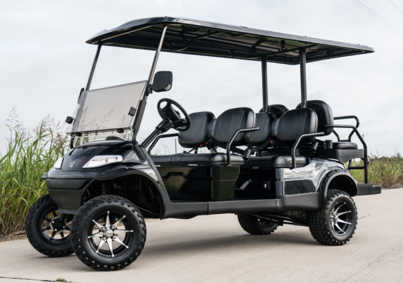New advanced ev 6 pass golf cart limo w toyota ac drive for Advanced motors and drives golf cart