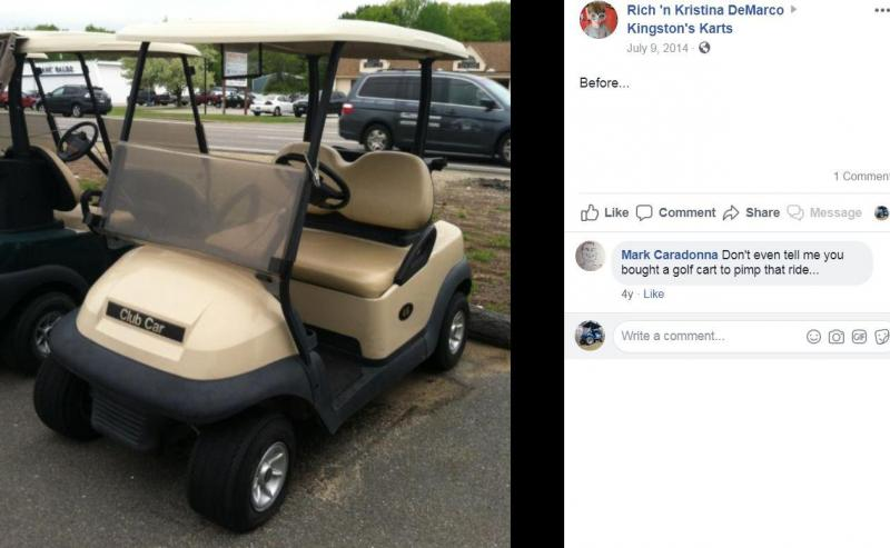 NEW HJS Big Horn 200GVX UTV 4 pass GAS Golf Cart w/ flatbed BLUE
