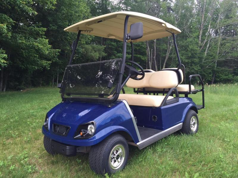 GAS POWERED Club Car Custom Spartan 4 passenger golf car Metallic Navy