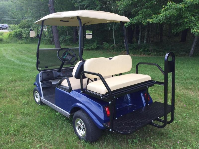 GAS POWERED Club Car Custom Spartan 4 passenger golf car Metallic Navy