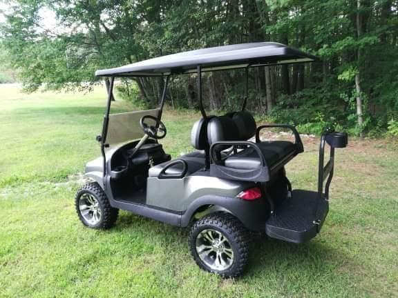 "Custom Graphite Metallic Phantom Club Car Precedent 6"" Lift 14"" wheels"