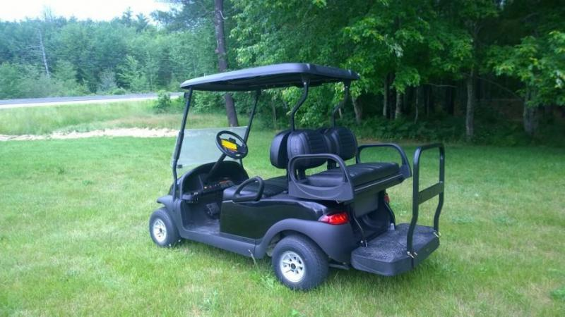 Custom Club Car Precedent TRIPLE BLACK 4 pass  GOLF CART