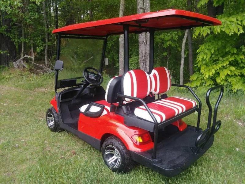 Save $2000!! NEW Advanced EV 4 pass 19MPH red electric golf car 3 yr warranty