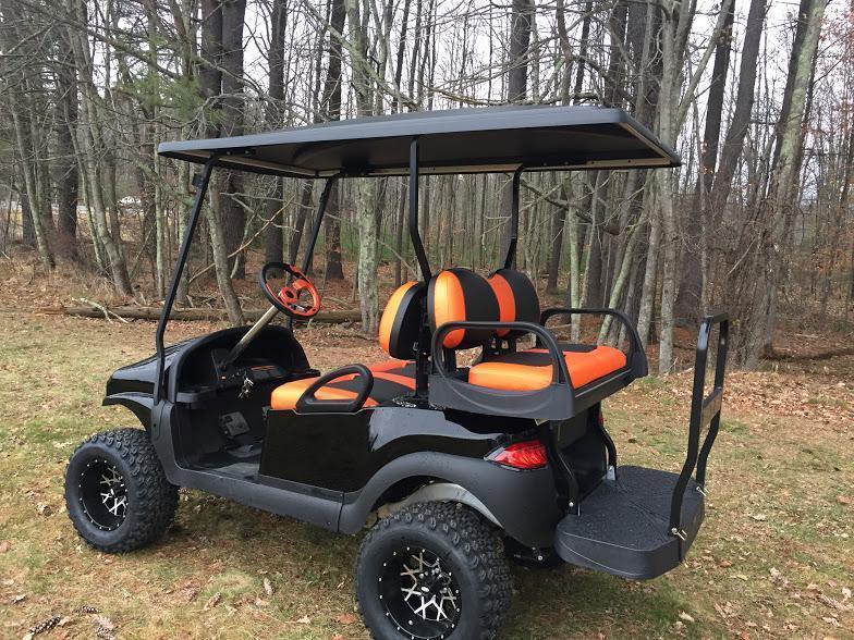 CUSTOM Precedent HARLEY ORANGE Phantom ELEC 4PASS Golf Cart