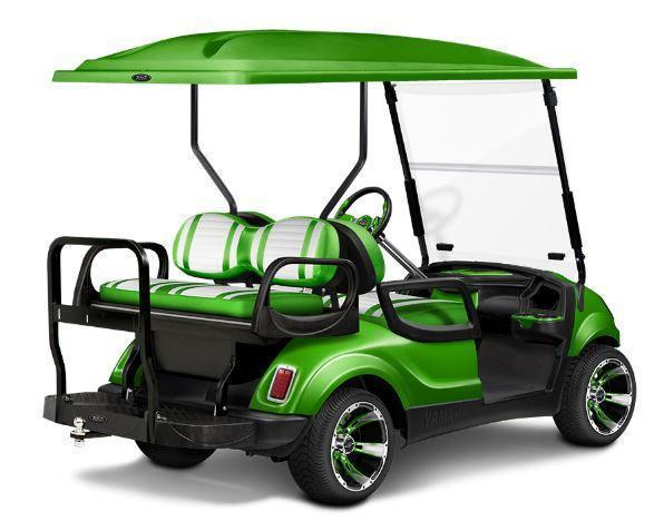 NICE!!Customized Black and Teal Yamaha GAS Drive 4 Passenger Golf Cart