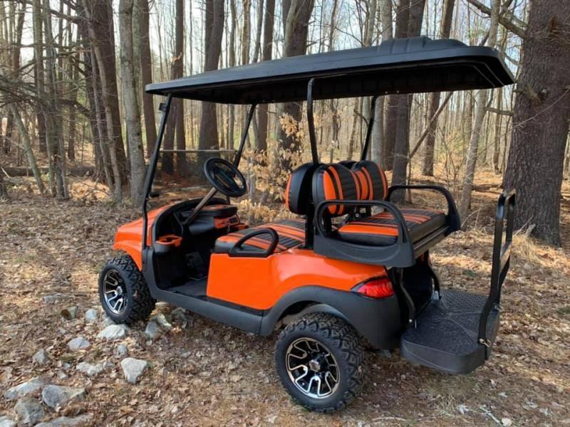 Metallic Orange Phantom Club Car Precedent Harley Davidson ... on harley davidson dodge charger, harley davidson power wheels charger, harley davidson gas golf carts, harley davidson ground effects lighting, club car golf cart charger,
