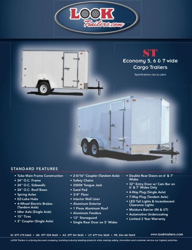 2020 Look Trailers ST STLC5X8SI2 Enclosed Cargo Trailer