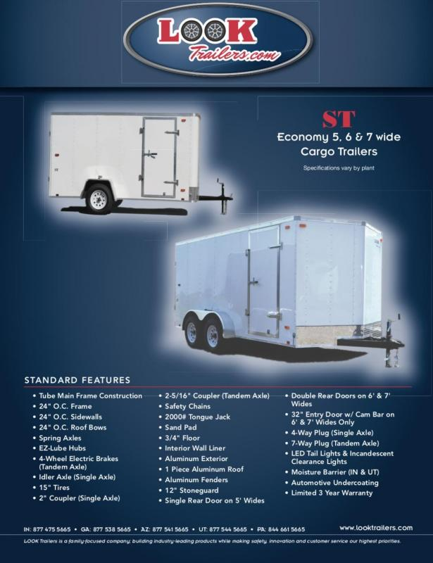 2020 Look Trailers ST STLC5X8SI2 Enclosed Cargo Trailer