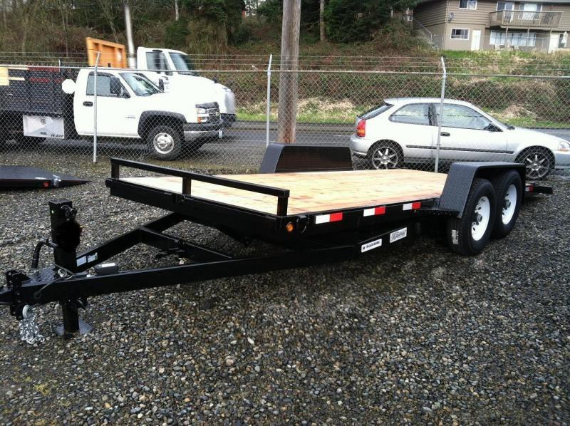 Eagle Trailer Black Hawk Flatbed Trailer