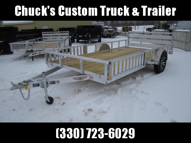 2019 H and H Trailer 82X14 TUBE TOP ATV ATV Trailer