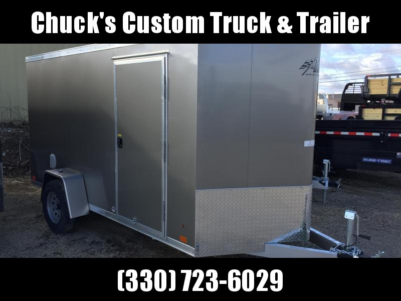 2018 Aluminum Trailer Company 6X12 ALUMINUM PEWTER RAMP DOOR Enclosed Cargo Trailer