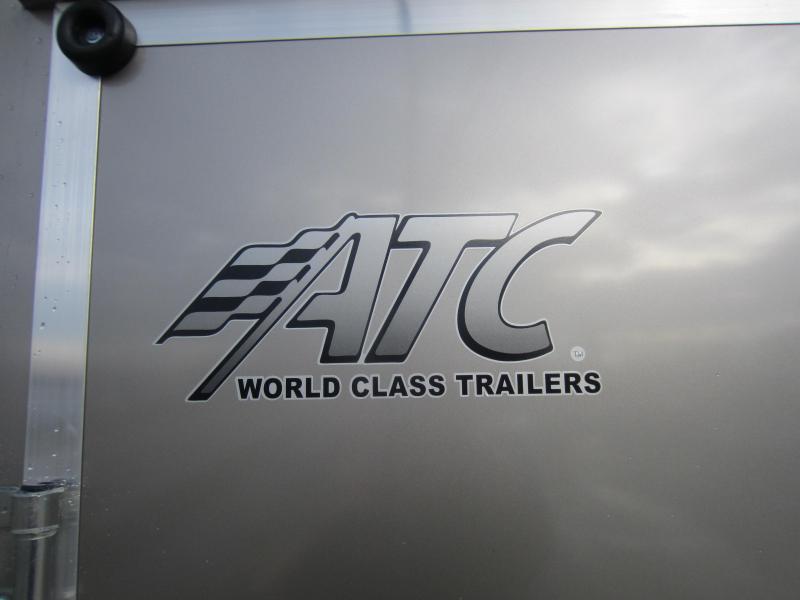 2018 Aluminum Trailer Company 6X12 ALUMINUM PEWTER RAMP DOOR Enclosed Cargo Trailer
