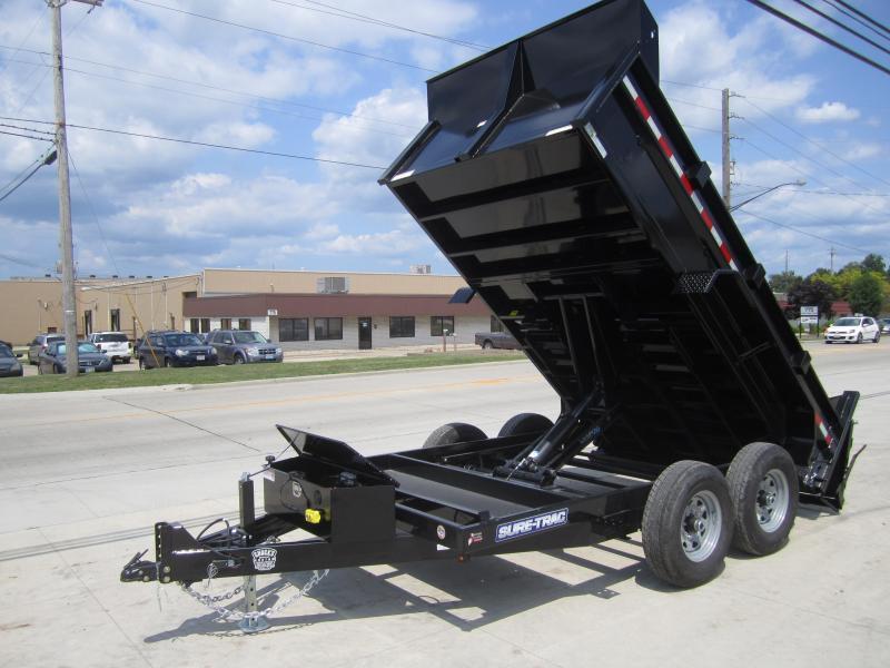 Sure-Trac 82 IN X 12 LProfile Scissor Dump 12K | Trailers