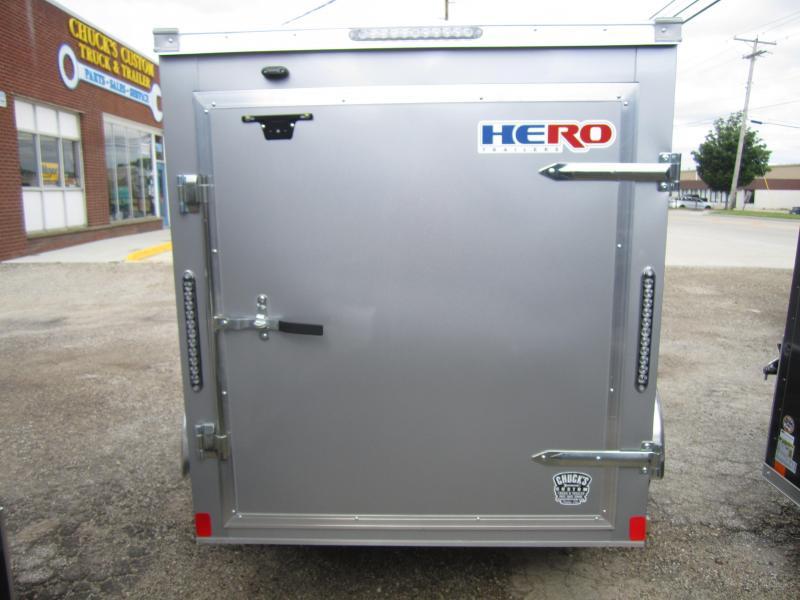 2020 Bravo Trailers 5'X8' HERO SWING DOOR Enclosed Cargo Trailer