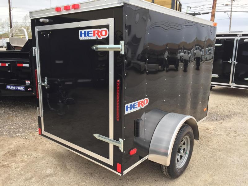 2019 Bravo Trailers 5X8 HERO BY BRAVO SWING DOOR Enclosed Cargo Trailer