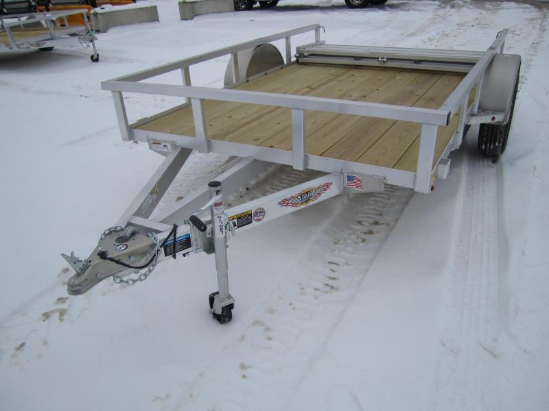 2019 H and H Trailer 76X10 TUBE TOP Utility Trailer