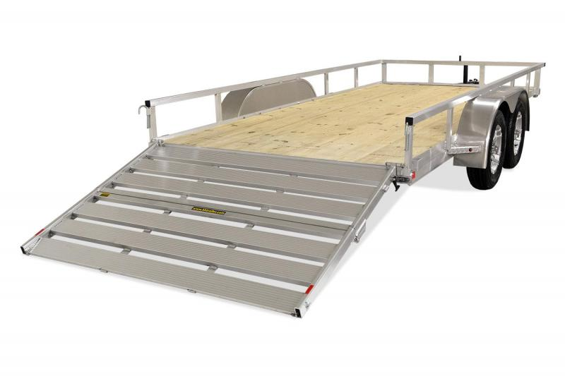 2019 H and H Trailer 82X14 TUBE TOP TANDEM ALUMINUM Utility Trailer
