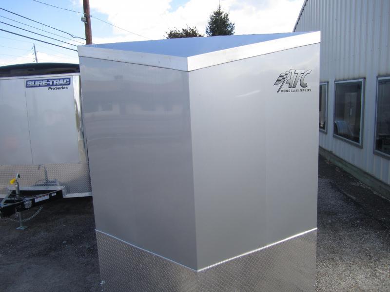 Aluminum Trailer Company 6X12 ALUMINUM SILVER/BLACK RAMP DOOR Enclosed Cargo Trailer