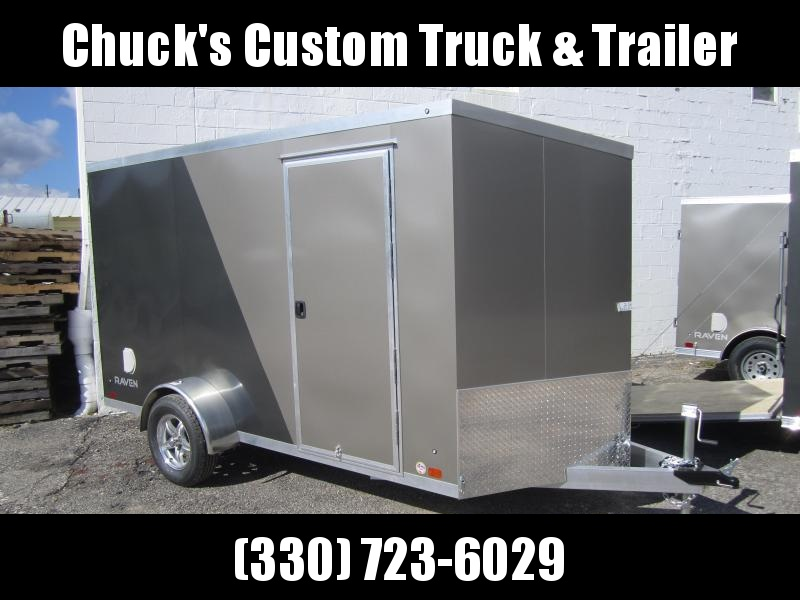 Aluminum Trailer Company 6X12 ALUMINUM PEWTER/CHARCOAL RAMP DOOR Enclosed Cargo Trailer