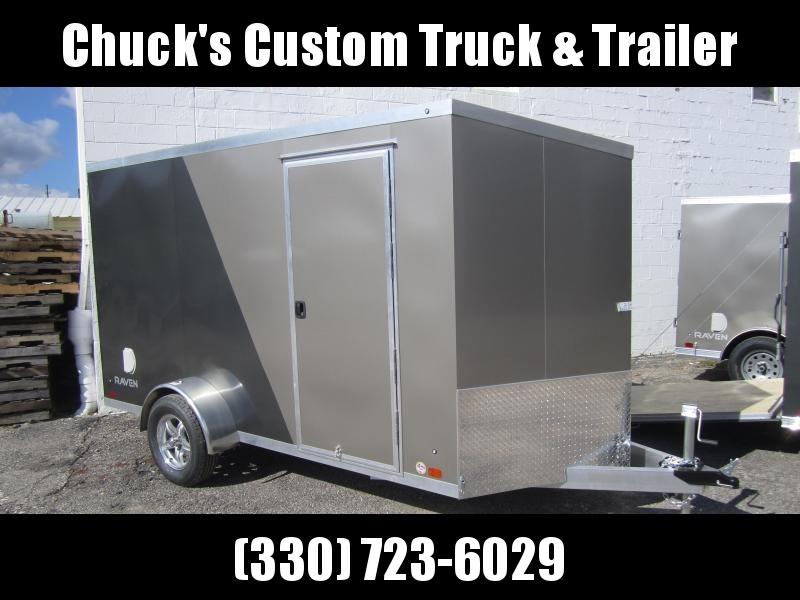 Aluminum Trailer Company 6X12 ALUMINUM PEWTER/CHARCOAL RAMP DOOR Enclosed Cargo Trailer