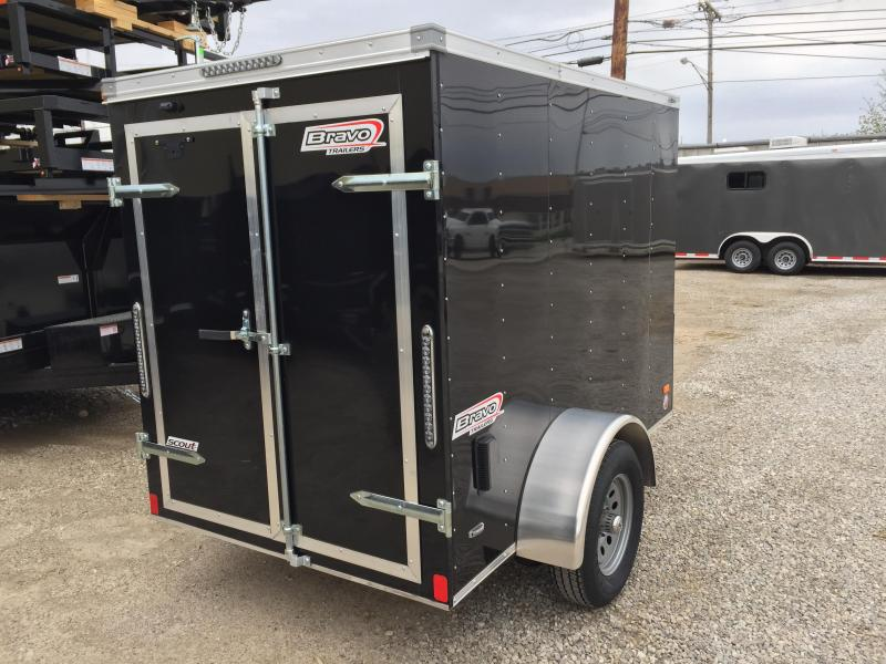 2018 Bravo Trailers 5X8 DOUBLE BARN DOORS Enclosed Cargo Trailer