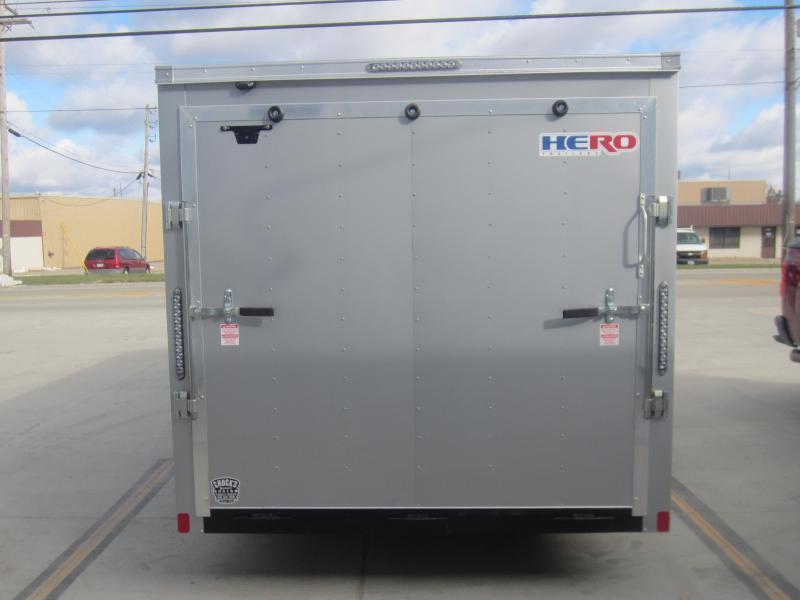 2019 Bravo Trailers 7X16 HERO BY BRAVO RAMP DOOR Enclosed Cargo Trailer