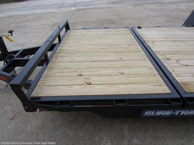 2017 Sure-Trac 78 X 12 + 4 Tilt Bed Equipment Trailer