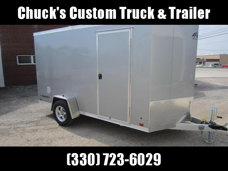 2018 ATC 6 X 12 Aluminum Wedge Nose Enclosed Cargo Trailer w/Ramp Door
