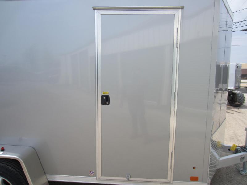 2018 ATC 6 X 12 Aluminum Wedge Nose Enclosed Cargo Trailer w/Ramp Door