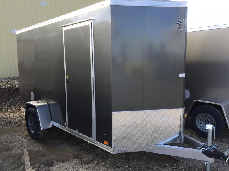 2018 Aluminum Trailer Company 6X12 ALUMINUM CHARCOAL RAMP DOOR Enclosed Cargo Trailer