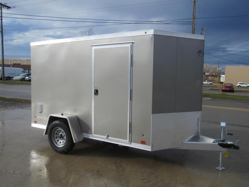 2018 Aluminum Trailer Company 6X10 ALUMINUM RAMP DOOR Enclosed Cargo Trailer