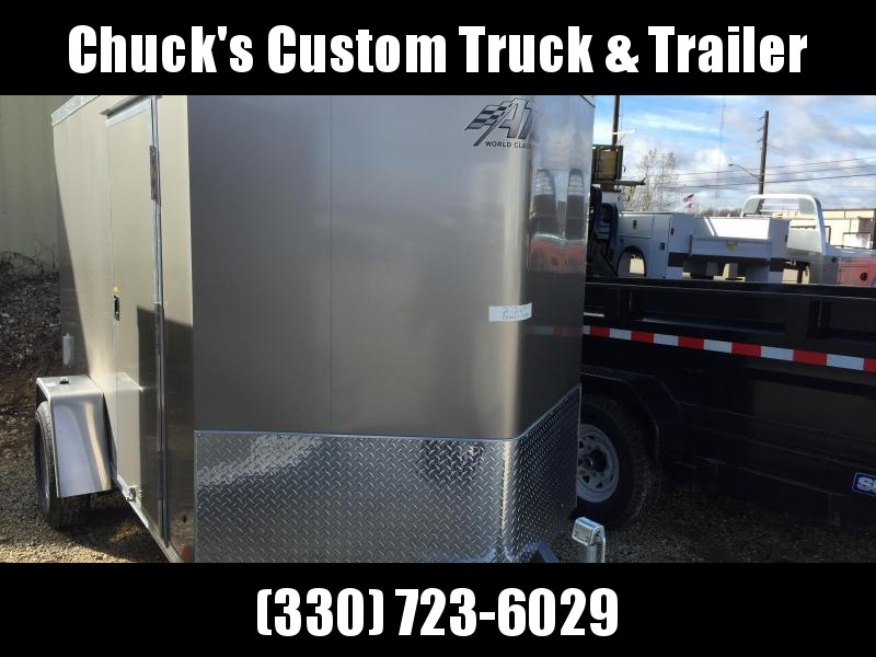 2018 Aluminum Trailer Company 6X10 ALUMINUM RAMP DOOR Enclosed Cargo Trailer