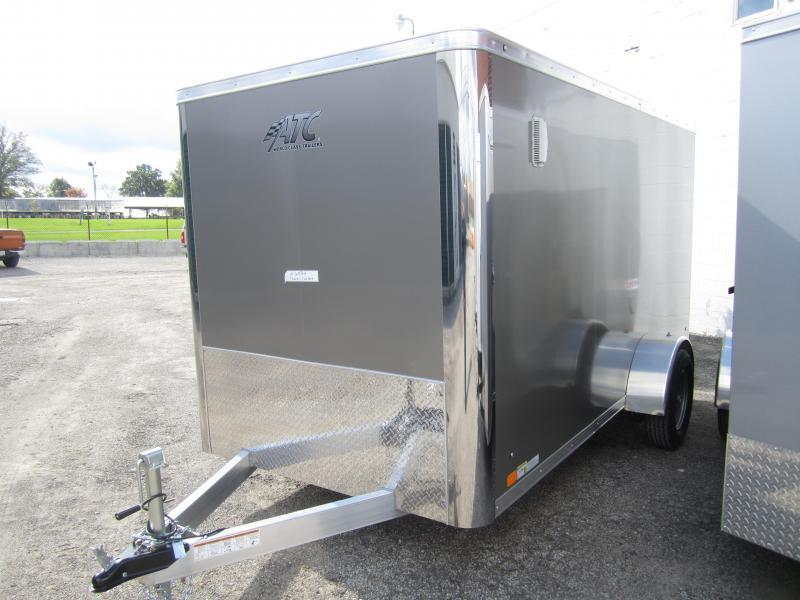 Aluminum Trailer Company 6X12 ALUMINUM PEWTER RAMP DOOR Enclosed Cargo Trailer