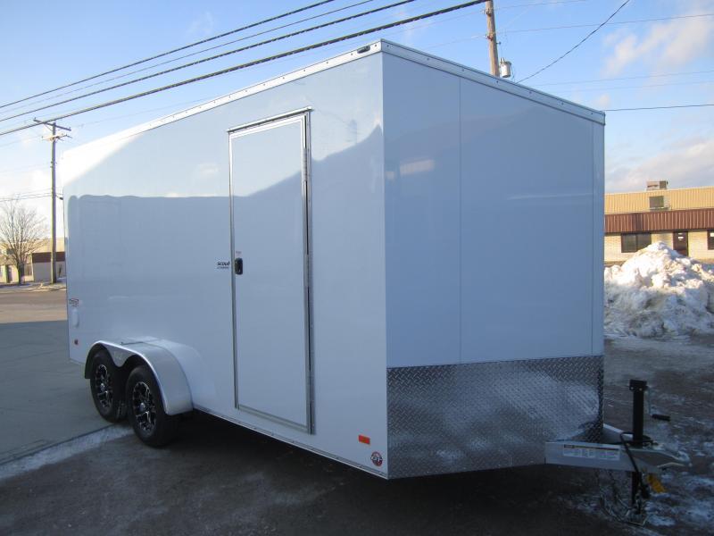 2019 Bravo Trailers 7X16 ALL ALUMINUM ENCLOSED RAMP DOOR Enclosed Cargo Trailer